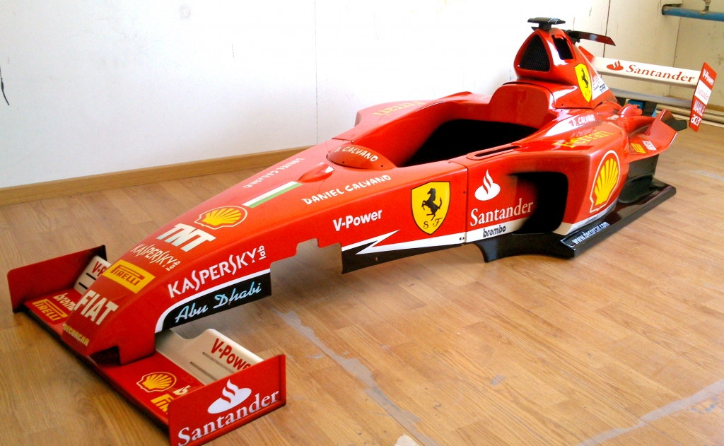 Pintura-Rotulacion-Aerografia de un Ferrari F1 a escala