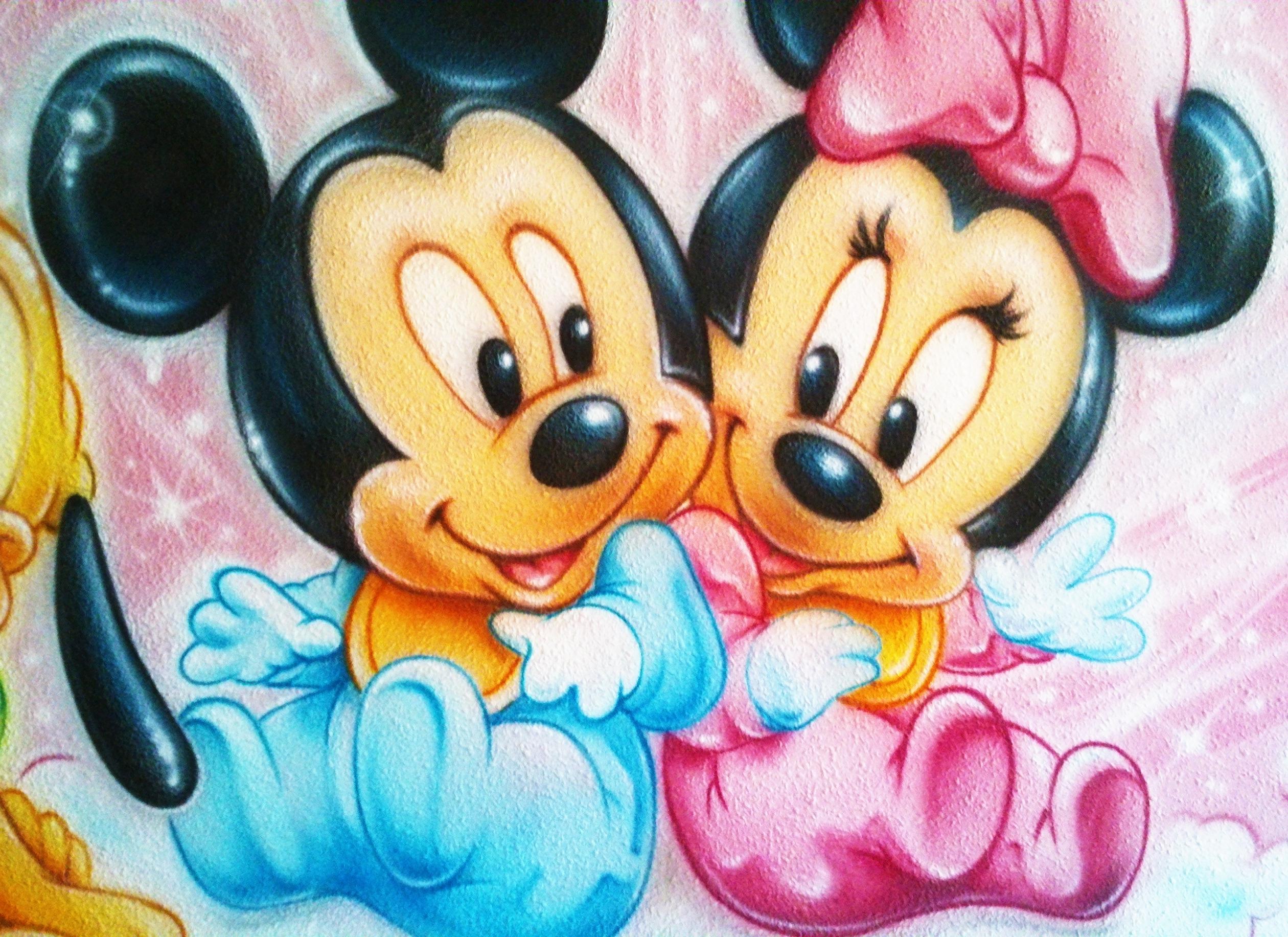 Aerografia Mickey y Minnie