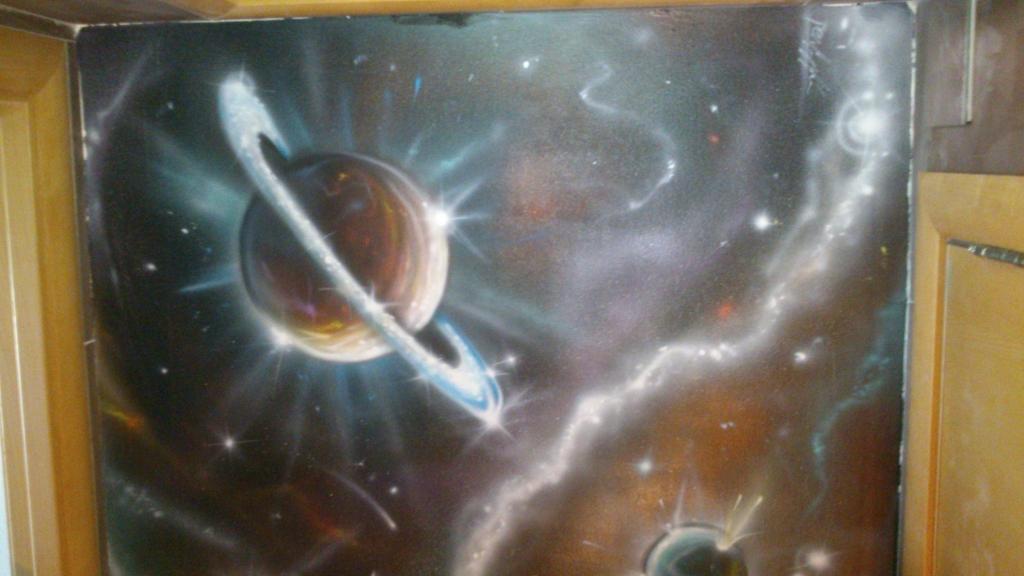 Pintura decorativa de una Galaxia