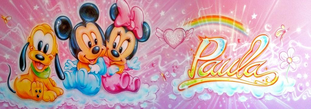 Aerografia Disney mural completo